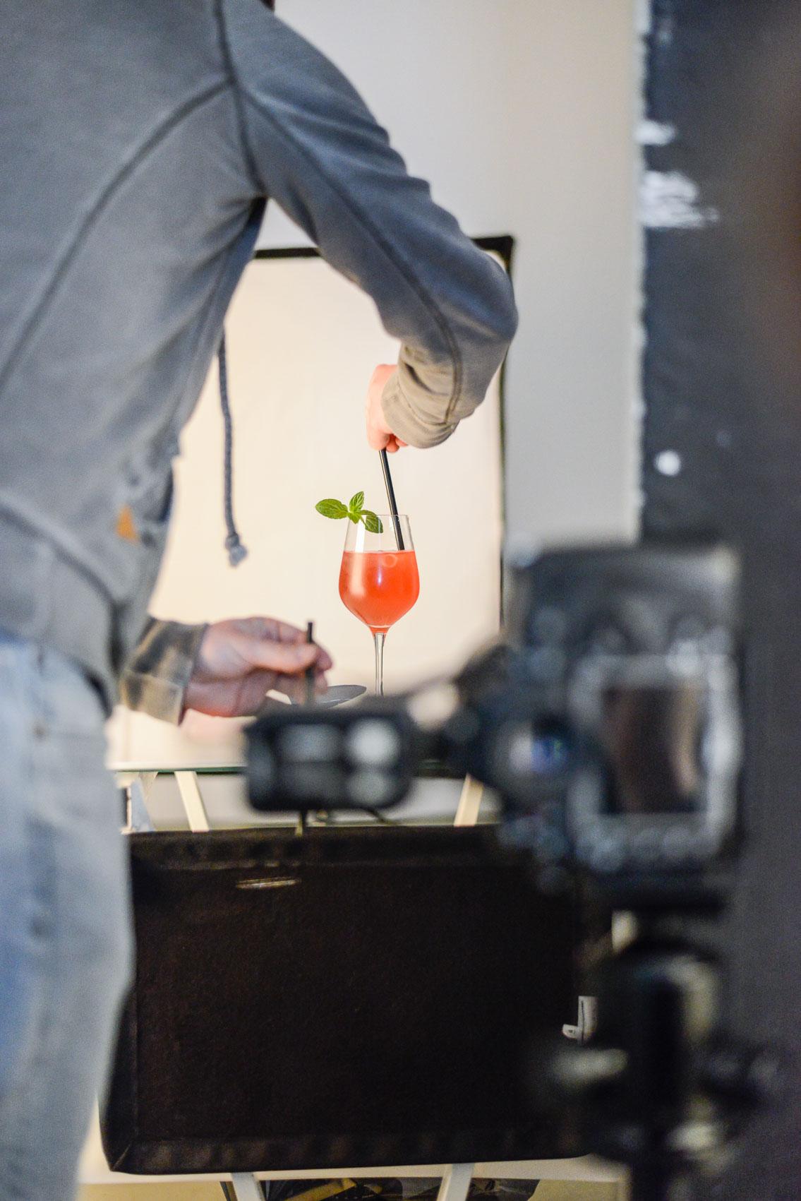 Für Spicy-Planet wurde im Studio das Getränk